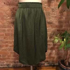 💚loft shirttail skirt💚